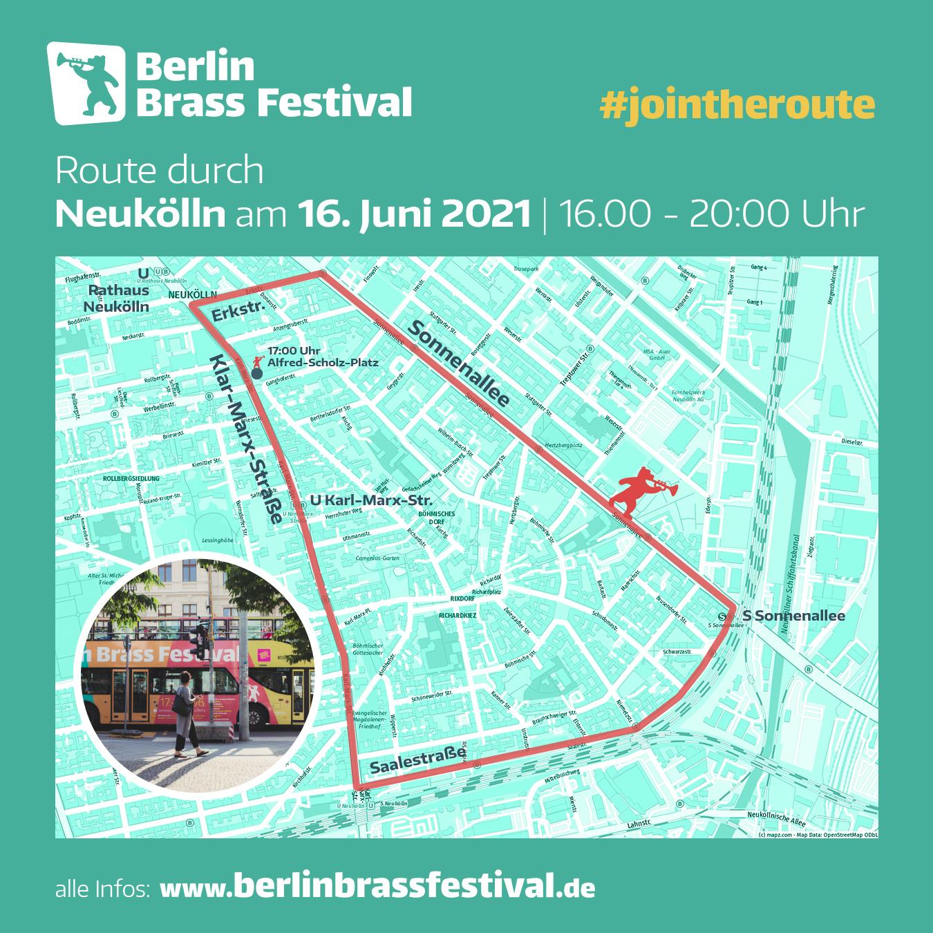 Berlin Brass Festival 2021 Route Neukoelln