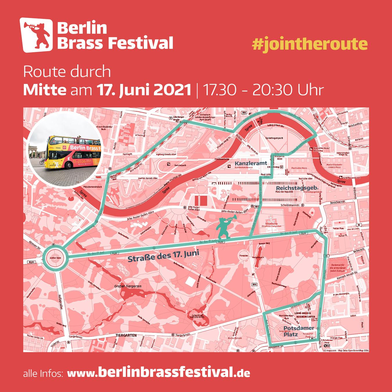 Berlin Brass Festival 2021 Route Mitte