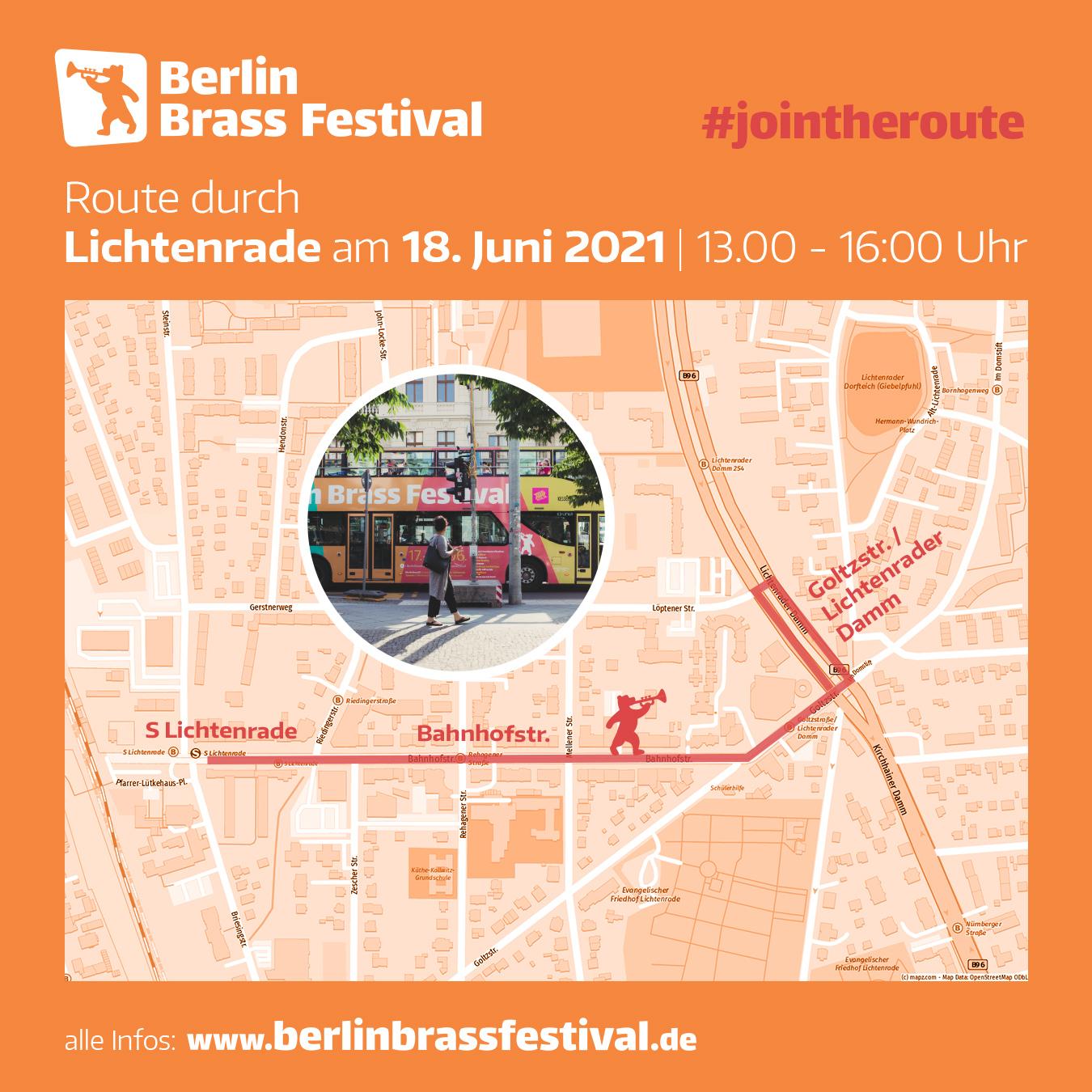 Berlin Brass Festival 2021 Route Lichtenrade