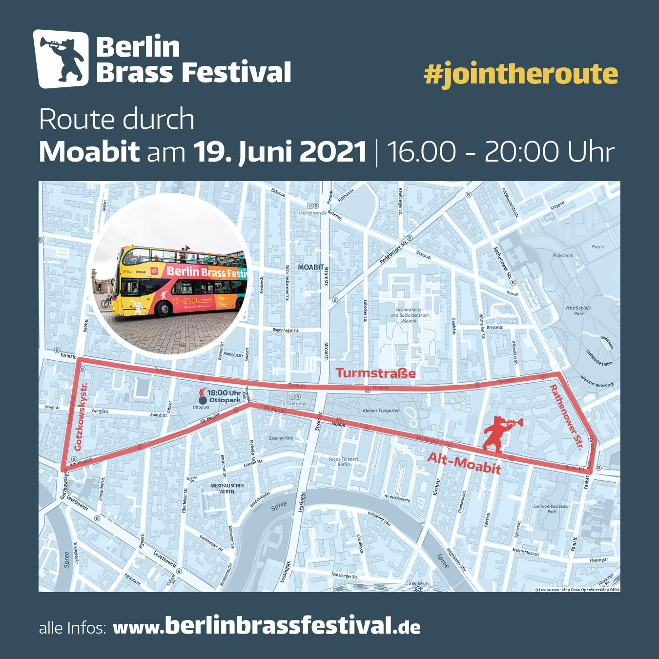 Berlin Brass Festival 2021 Route Moabit