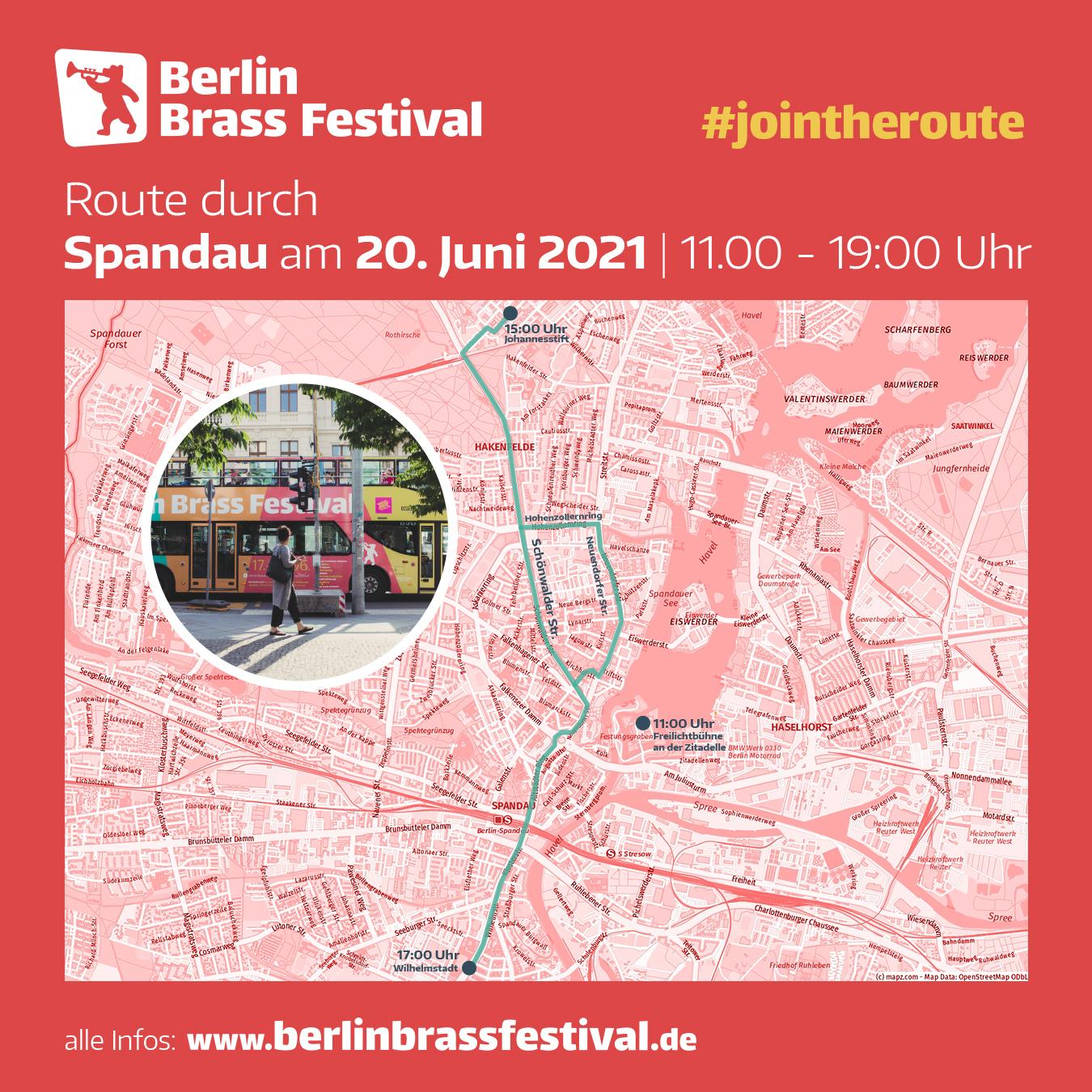 Berlin Brass Festival 2021 Route Spandau